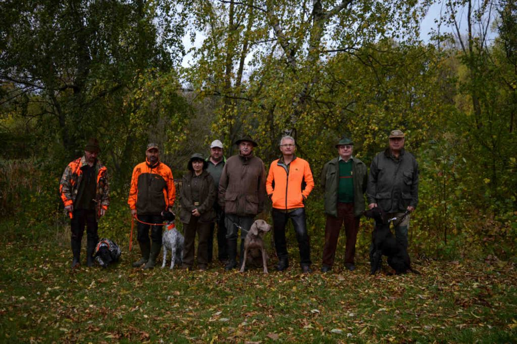 Richter, Hundeführer, Hunde und Begleiter der VGP 2019 in Pfiffelbach
